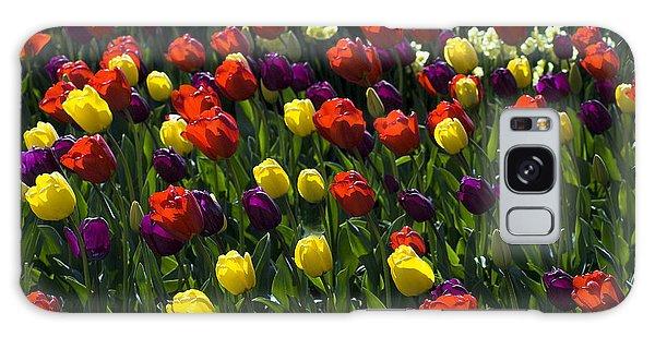 Colorful Tulip Field Galaxy Case