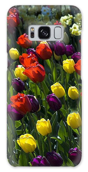 Colorful Tulip Field Galaxy Case