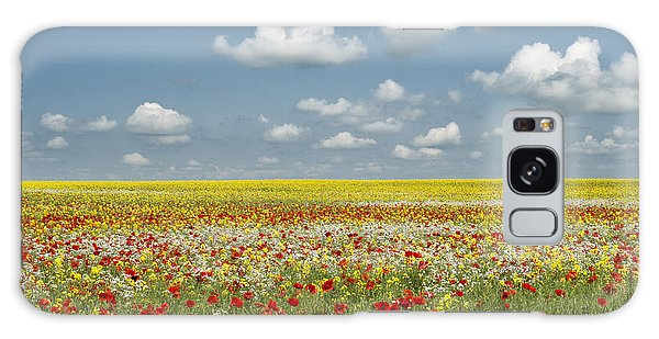 English Countryside Galaxy Case - Multicoloured Field by Tim Gainey