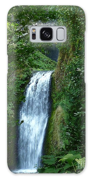 Multnomah Falls Bridge 2 Galaxy Case by Susan Garren