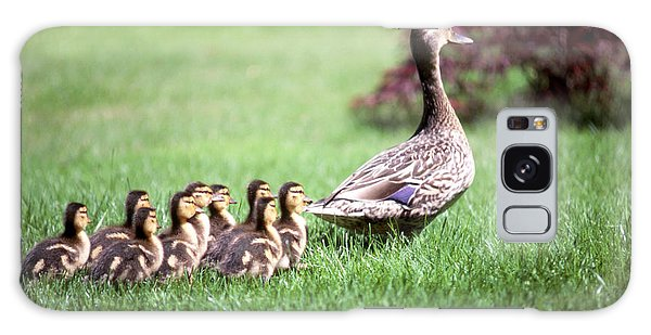 Mumma Duck And Kids Galaxy Case by King Wu