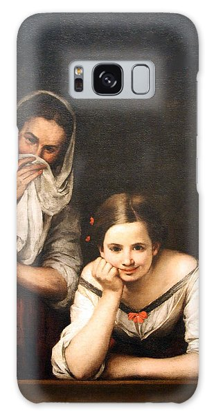 Murillo's Two Women At A Window Galaxy Case