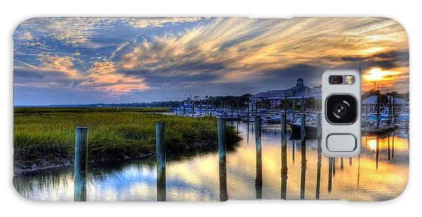 Murrells Inlet Sunset 1 Galaxy Case