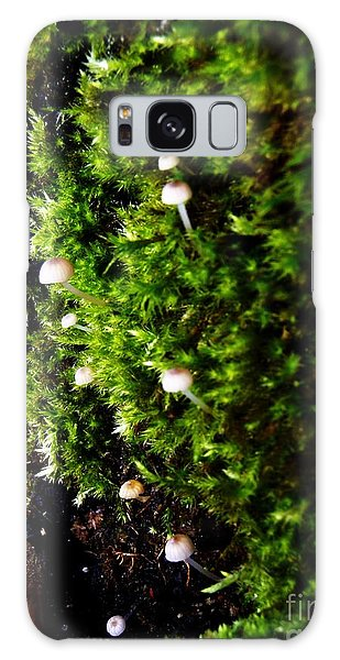 Mushrooms Galaxy Case by Vanessa Palomino