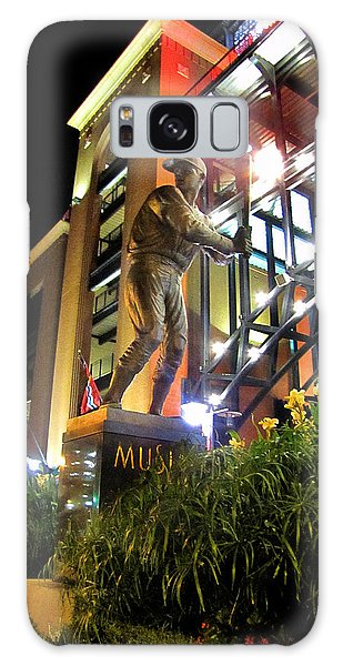 Musial Statue At Night Galaxy Case by John Freidenberg