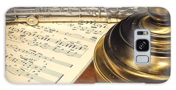 Music And Flute Galaxy Case
