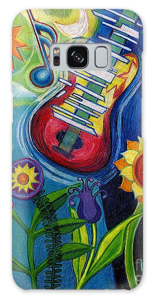Music On Flowers Galaxy Case