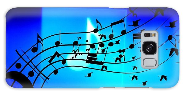 Music To Fly Galaxy Case by Paulo Zerbato