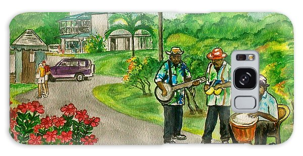 Musicians On Island Of Grenada Galaxy Case by Frank Hunter