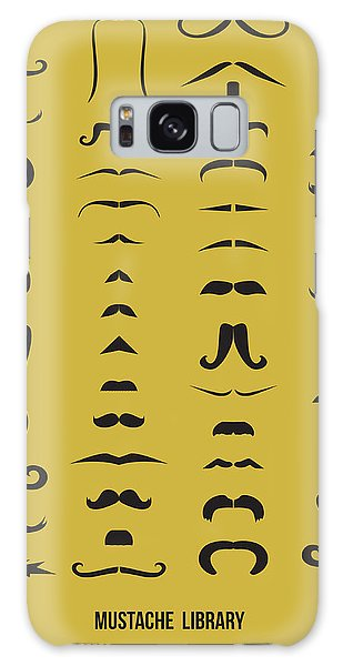 Comical Galaxy Case - Mustache Library Poster by Naxart Studio