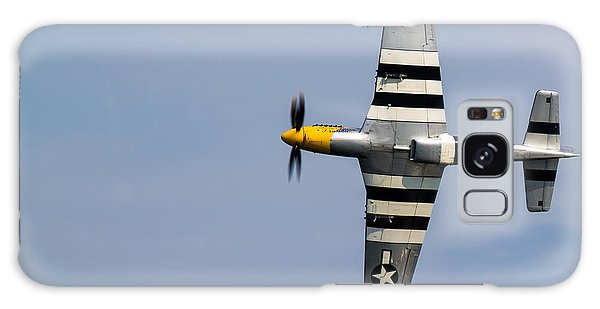 Galaxy Case featuring the photograph Mustang Flyby D-day by Scott Lyons