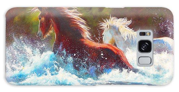 Mustang Splash Galaxy Case by Karen Kennedy Chatham
