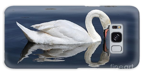 Mute Swan Kissing Its Reflection Galaxy Case