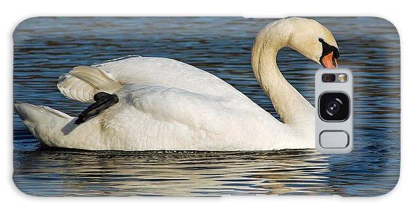 Mute Swan Resting Galaxy Case by Olivia Hardwicke