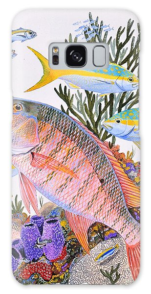 Mangrove Snapper Galaxy Case - Mutton Snapper Reef by Carey Chen
