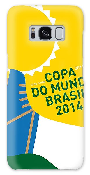 Soccer Galaxy S8 Case - My 2014 World Cup Soccer Brazil - Rio Minimal Poster by Chungkong Art