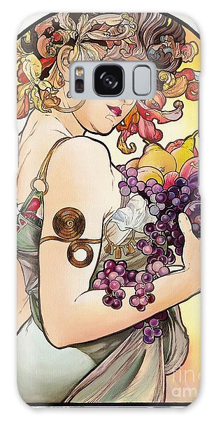My Acrylic Painting As An Interpretation Of The Famous Artwork By Alphonse Mucha - Fruit Galaxy Case by Elena Yakubovich