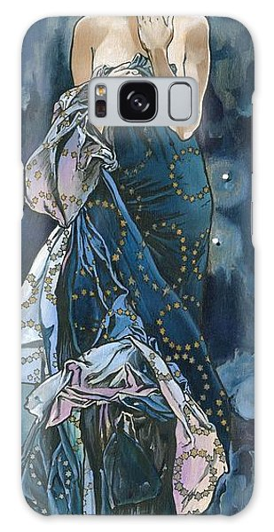 My Acrylic Painting As An Interpretation Of The Famous Artwork Of Alphonse Mucha - Moon - Galaxy Case by Elena Yakubovich