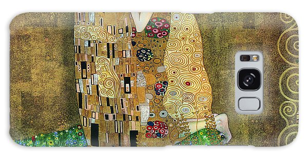 My Acrylic Painting As An Interpretation Of The Famous Artwork Of Gustav Klimt The Kiss - Yakubovich Galaxy Case by Elena Yakubovich