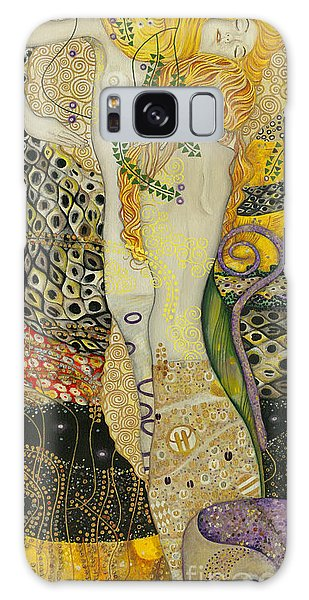 My Acrylic Painting As An Interpretation Of The Famous Artwork Of Gustav Klimt - Water Serpents I Galaxy Case by Elena Yakubovich