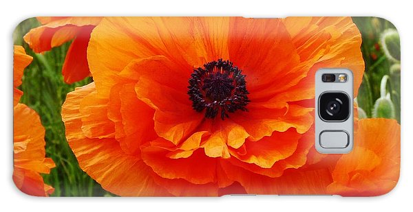 My Bright And Shining Poppy Galaxy Case by Jeanette Oberholtzer