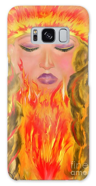 My Burning Within Galaxy Case by Lori  Lovetere