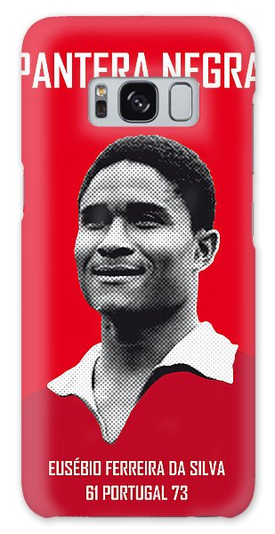 My Eusebio Soccer Legend Poster Galaxy Case by Chungkong Art