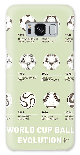 Poster Galaxy Case - My Evolution Soccer Ball Minimal Poster by Chungkong Art