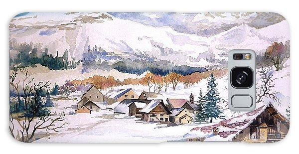 My First Snow Scene Galaxy Case by Alban Dizdari
