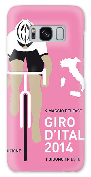 Bicycle Galaxy S8 Case - My Giro D Italia Minimal Poster 2014 by Chungkong Art