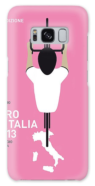 Bicycle Galaxy S8 Case - My Giro D'italia Minimal Poster by Chungkong Art