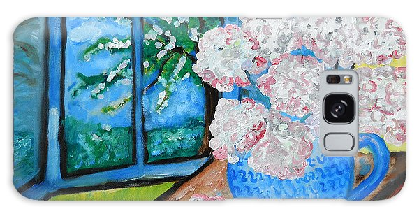 My Grandma S Flowers   Galaxy Case by Ramona Matei