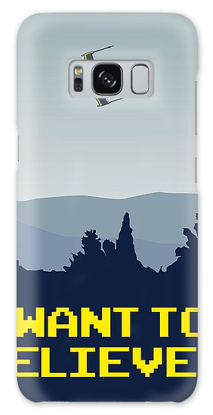 My I Want To Believe Minimal Poster- Xwing Galaxy Case