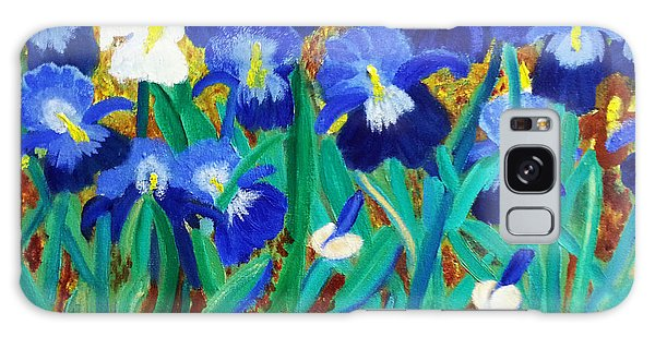 My Iris - Inspired  By Vangogh Galaxy Case by Margaret Harmon