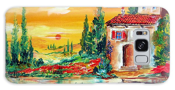 My Little Tuscany Home By The River Galaxy Case by Roberto Gagliardi