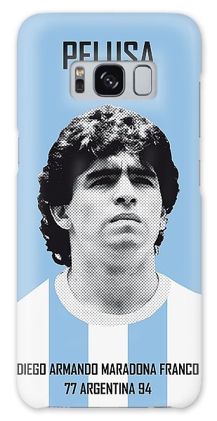 My Maradona Soccer Legend Poster Galaxy Case by Chungkong Art