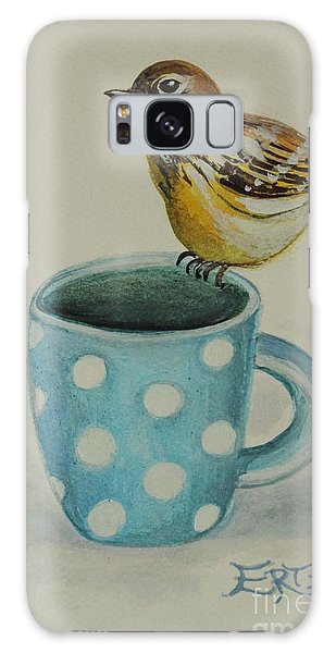 Polka Dot Songbird Delight Galaxy Case by Elizabeth Robinette Tyndall
