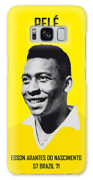 My Pele Soccer Legend Poster Galaxy Case
