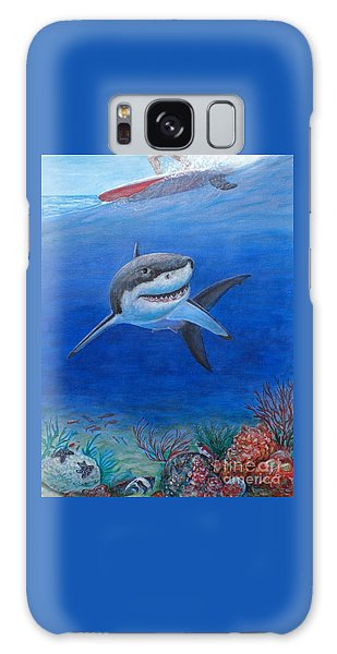 My Pet Shark Galaxy Case by George I Perez