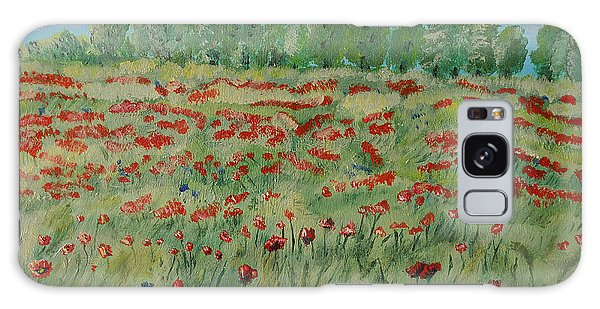 My Poppies Field Galaxy Case
