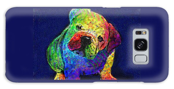 My Psychedelic Bulldog Galaxy Case by Jane Schnetlage