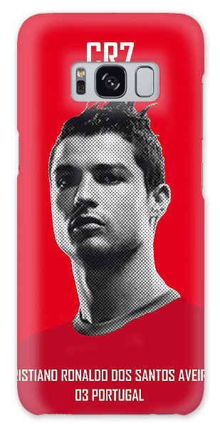 Soccer Galaxy S8 Case - My Ronaldo Soccer Legend Poster by Chungkong Art