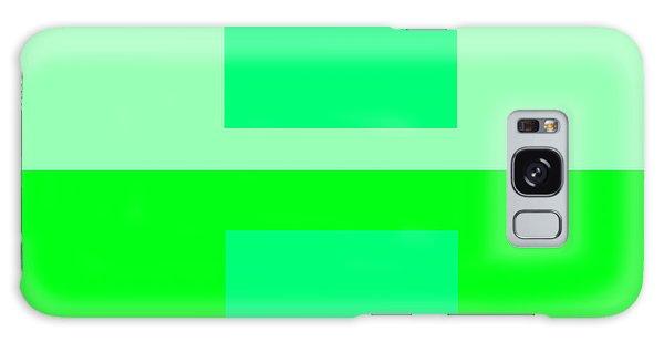 Color Field Green Galaxy Case