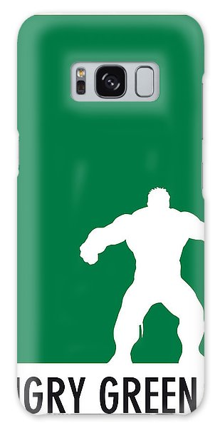 Superhero Galaxy Case - My Superhero 01 Angry Green Minimal Poster by Chungkong Art