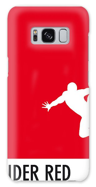 My Superhero 04 Spider Red Minimal Poster Galaxy Case by Chungkong Art