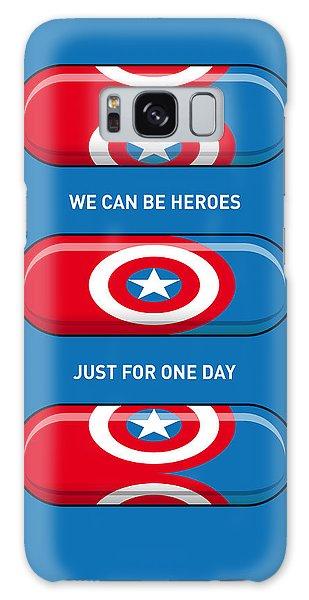 Superhero Galaxy Case - My Superhero Pills - Captain America by Chungkong Art
