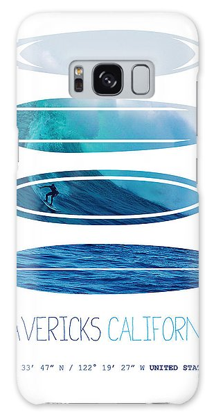 Layers Galaxy Case - My Surfspots Poster-2-mavericks-california by Chungkong Art
