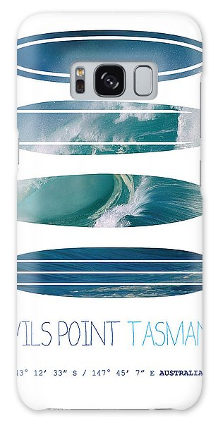 Layers Galaxy Case - My Surfspots Poster-5-devils-point-tasmania by Chungkong Art