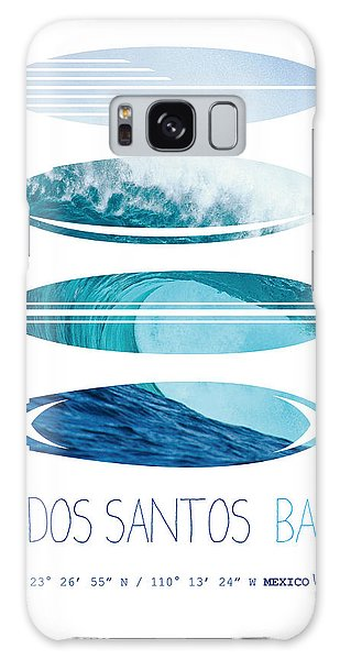 Mexican Galaxy S8 Case - My Surfspots Poster-6-todos-santos-baja by Chungkong Art