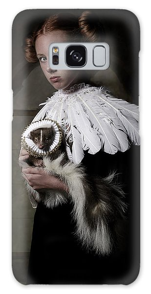 Feathers Galaxy Case - My Sweet Skunk Friens by Carola Kayen-mouthaan